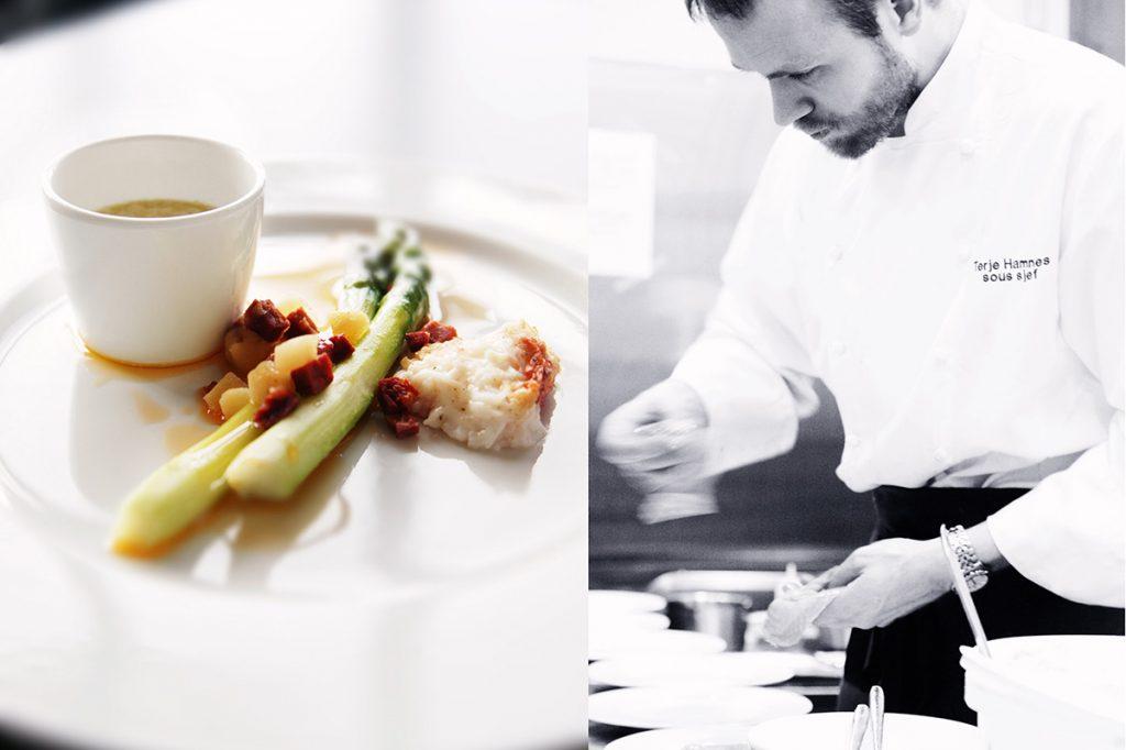 ekebergrestauranten kokk asparges mat