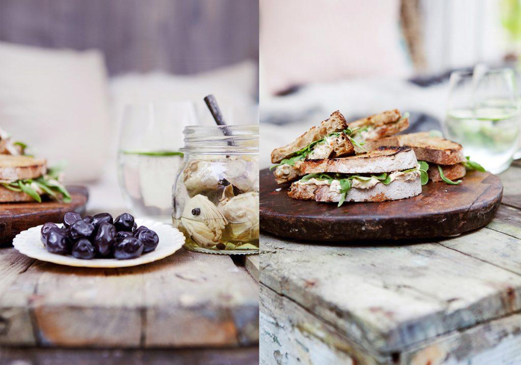 sandwich oliven artisjokk sommermat