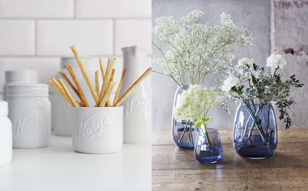 hadeland vase norgesglass hvit