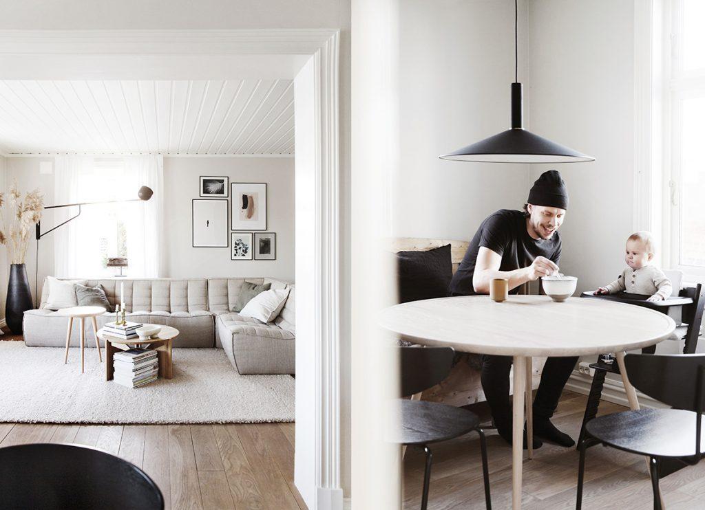stue nordisk kjøkkenbord design