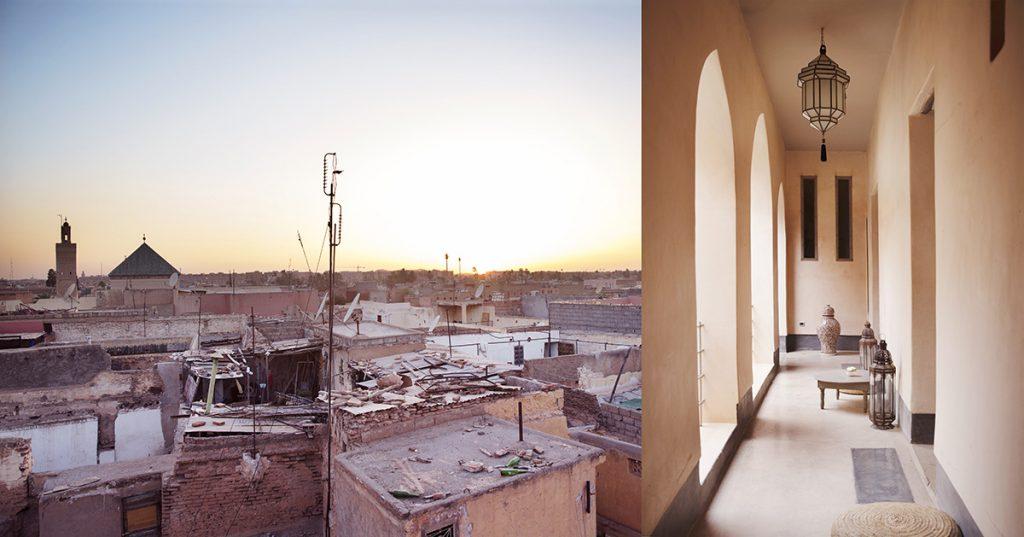 marrakesh solnedgang riad marrokko