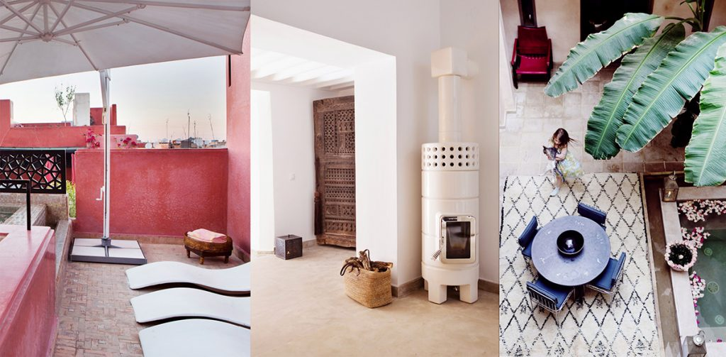 marrakesh interiør riad takterrasse