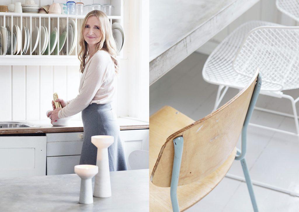 hvitt kjøkken retro inspirasjon